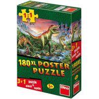 Dino Puzzle Dinosauři plakát 180 XL