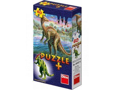 Dino Puzzle Dinosauři s figurkou 60 dílků - Parasaurolophus
