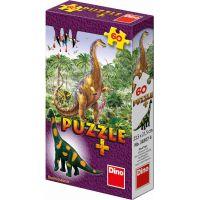 Dino Puzzle Dinosauři s figurkou 60 dílků - Brachiosaurus