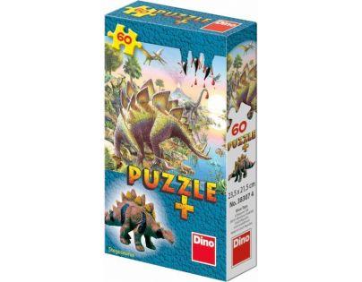Dino Puzzle Dinosauři s figurkou 60 dílků - Stegosaurus
