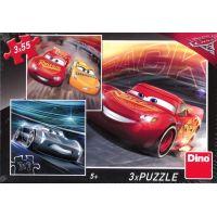 Dino Puzzle Disney Cars 3 Trénink 3 x 55 dílků