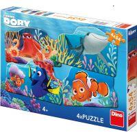 Dino Puzzle Disney Dory a přátelé 4 x 54 dílků