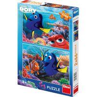 Dino Puzzle Disney Dory mezi korály 2 x 66 dílků