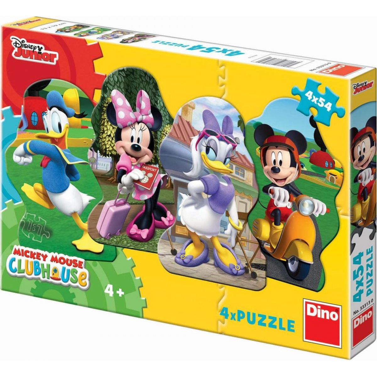 Dino Puzzle Disney Mickey a kamarádi 4 x 54 dílků
