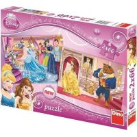Dino Puzzle Disney Princess Princezny 2 x 66 dílků