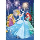 Dino Puzzle Disney Princezny neon 100 XL dílků 2