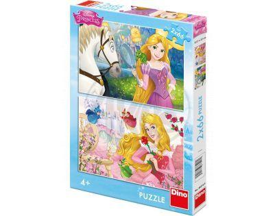Dino Puzzle Disney Princezny portréty 2 x 66 dílků