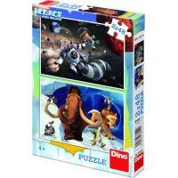Dino Puzzle Doba Ledová 5 Hrdinové 2 x 48 dílků