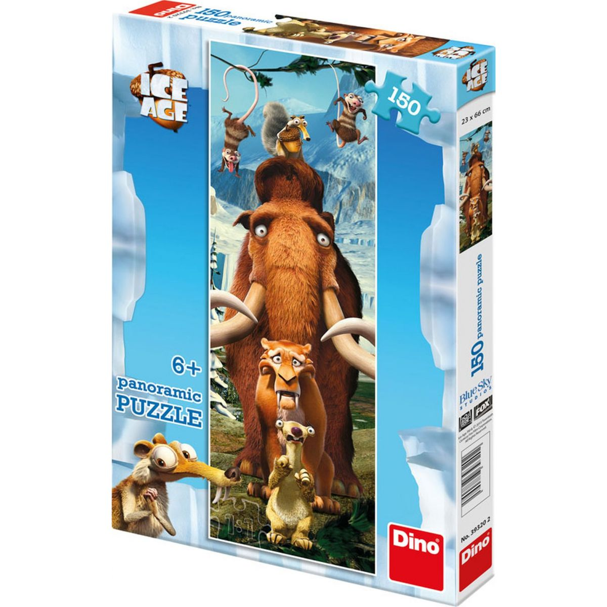 Dino Puzzle Doba ledová Panoramic Artisté 150 dílků