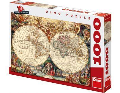 DINO 531857 - Historická mapa (1000 dílků)