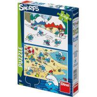 Dino Hraví Šmoulové 2 x 48 dílků puzzle