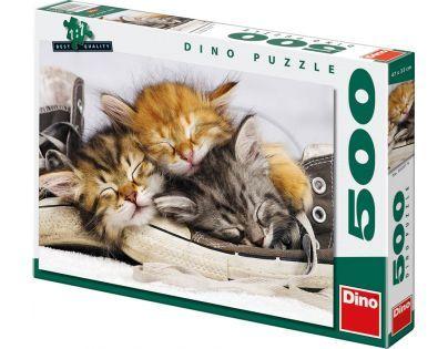 Dino Puzzle Kotě v botě 500 dílků