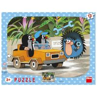 Dino Krteček Puzzle Krtek a autíčko 12 dílků