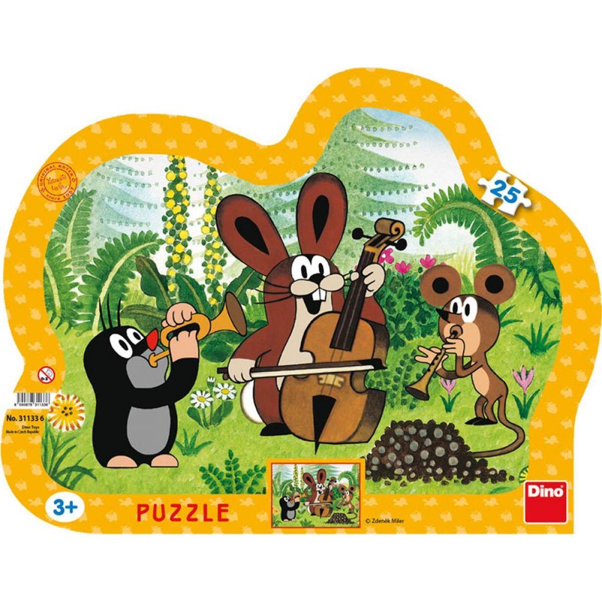 Dino Puzzle Krteček muzikant 25 dílků