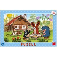 Dino Krteček na návštěvě Puzzle 15 dílků
