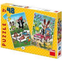 Dino Puzzle Krteček se raduje 2 x 48 dílků