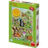 Dino Puzzle Krteček a jarní den 100 XL dílků