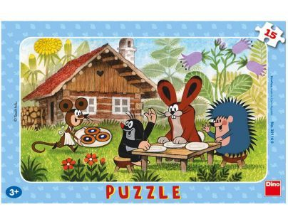 Dino Krteček Puzzle Krtek na návštěvě 15 dílků