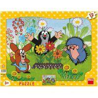 Dino Krteček Puzzle Krtek zahradníkem 12 dílků