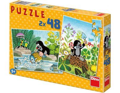 Dino Puzzle Krtek 2 x 48 dílků