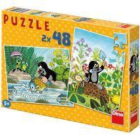 DINO 381254 - Puzzle Krtek (2 x 48 dílků)
