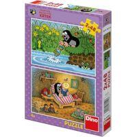 Dino Puzzle Krtek a perla 2 x 48 dílků