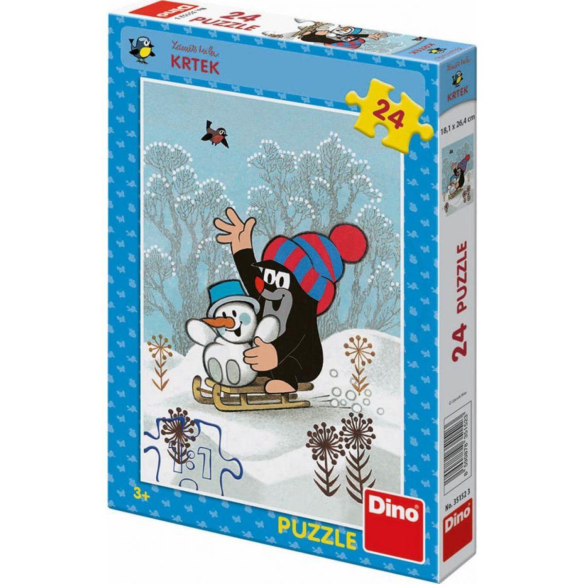 Dino Puzzle Krtek a Sněhulák 24 dílků