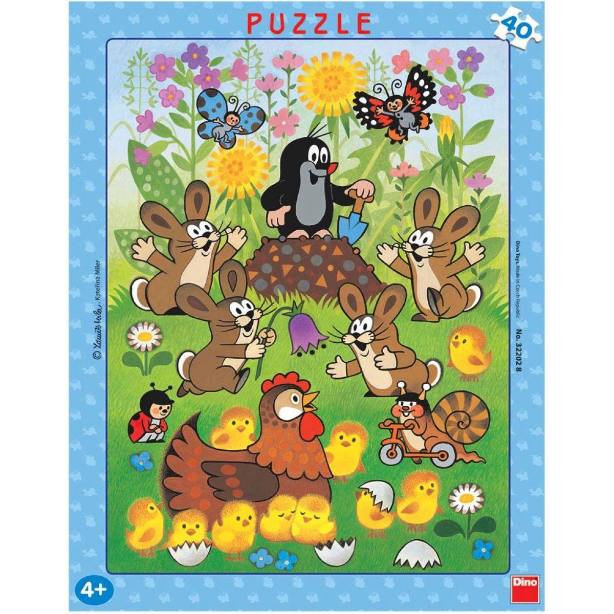 Dino Puzzle Krtek a velikonoce 40 dílků