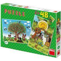 Dino 21381155 - Puzzle Léto s Krtečkem 2x48 dílků