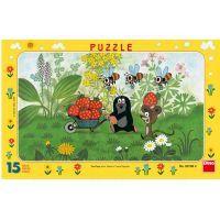 Dino Krteček Puzzle Krtek na výletě 15 dílků