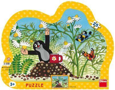 Dino Krteček Puzzle Krtek s hrníčkem 25 dílků