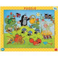 Dino 21322011 - Puzzle deskové Krtek v jahodách 40 dílků