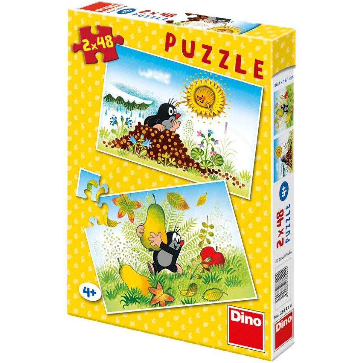 Dino Puzzle Krtkův rok 2 x 48 dílků