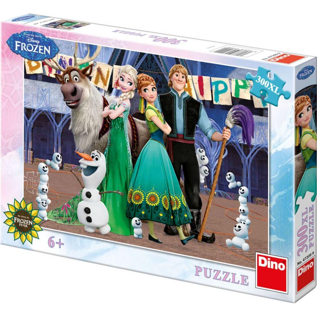 Dino Puzzle Ledové království narozeniny 300 XL dílků