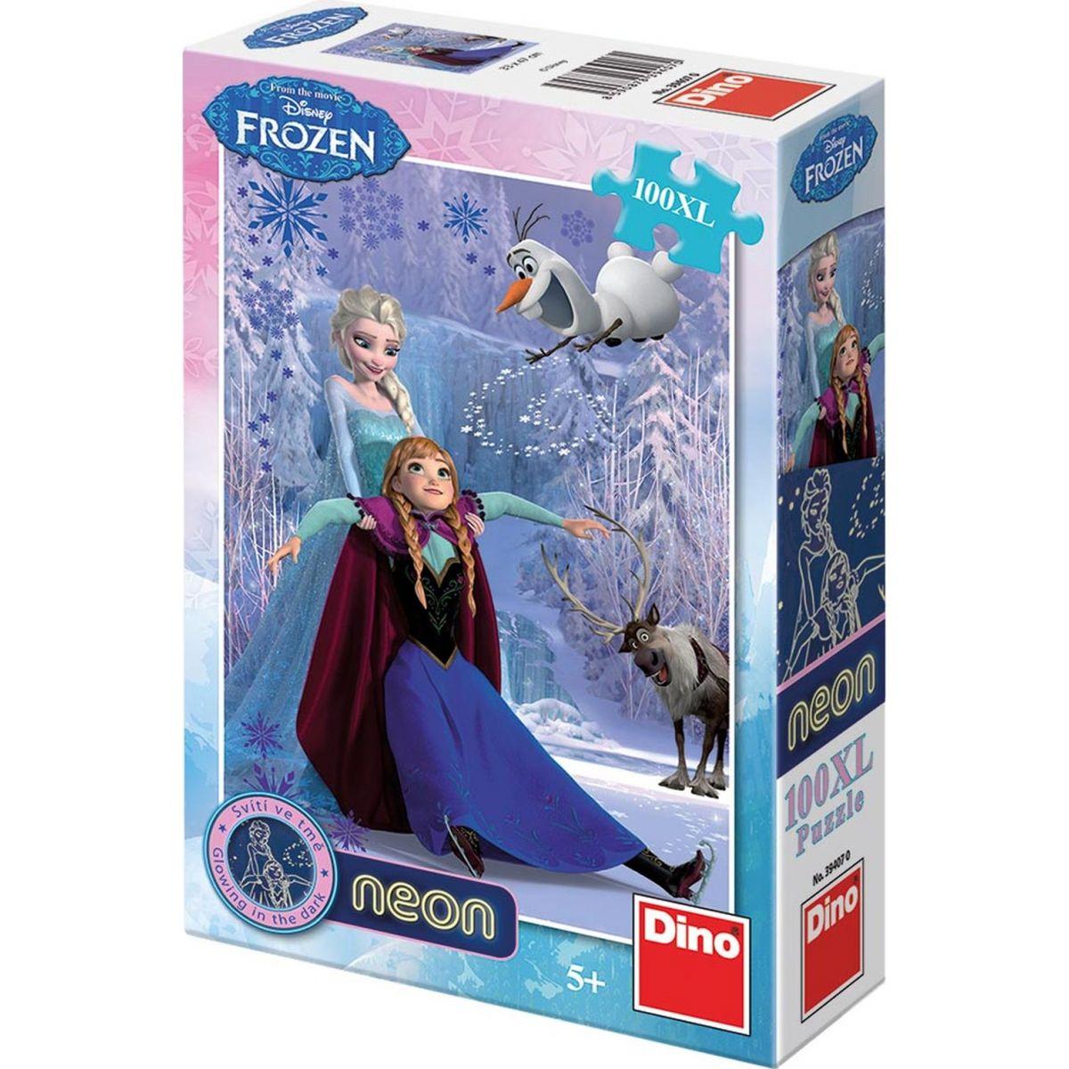 Dino Puzzle Ledové království neon 100 XL dílků