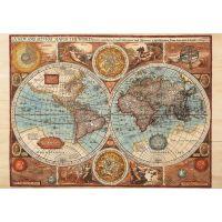 Dino Puzzle Mapa světa z roku 1626 2