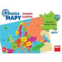 Dino Puzzle mapy Evropa puzzle 69 dílků