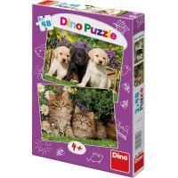 Dino Puzzle Mazlíčci 2 x 48 dílků