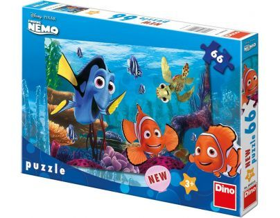 DINO 384026 - Puzzle Nemo na korálovém útesu - 66 dílků (32,3 x 22 cm)