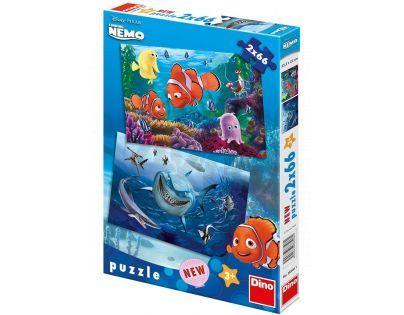 DINO 385061- Puzzle Nemo v mořské hlubině - 2 x 66 dílků (32,3 x 22 cm)