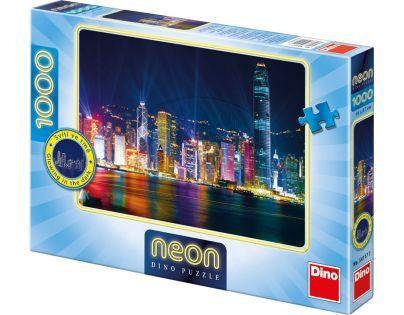 Dino Puzzle Neon Hong Kong 1000dílků