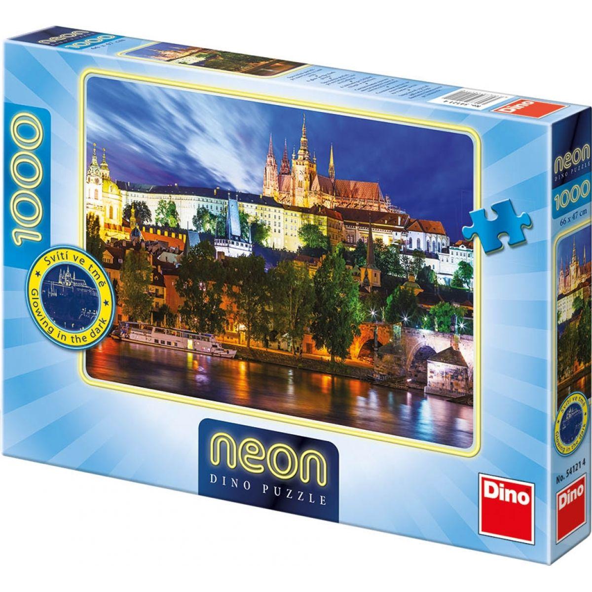 Dino Puzzle Neon Letní noc v Praze 1000 dílků