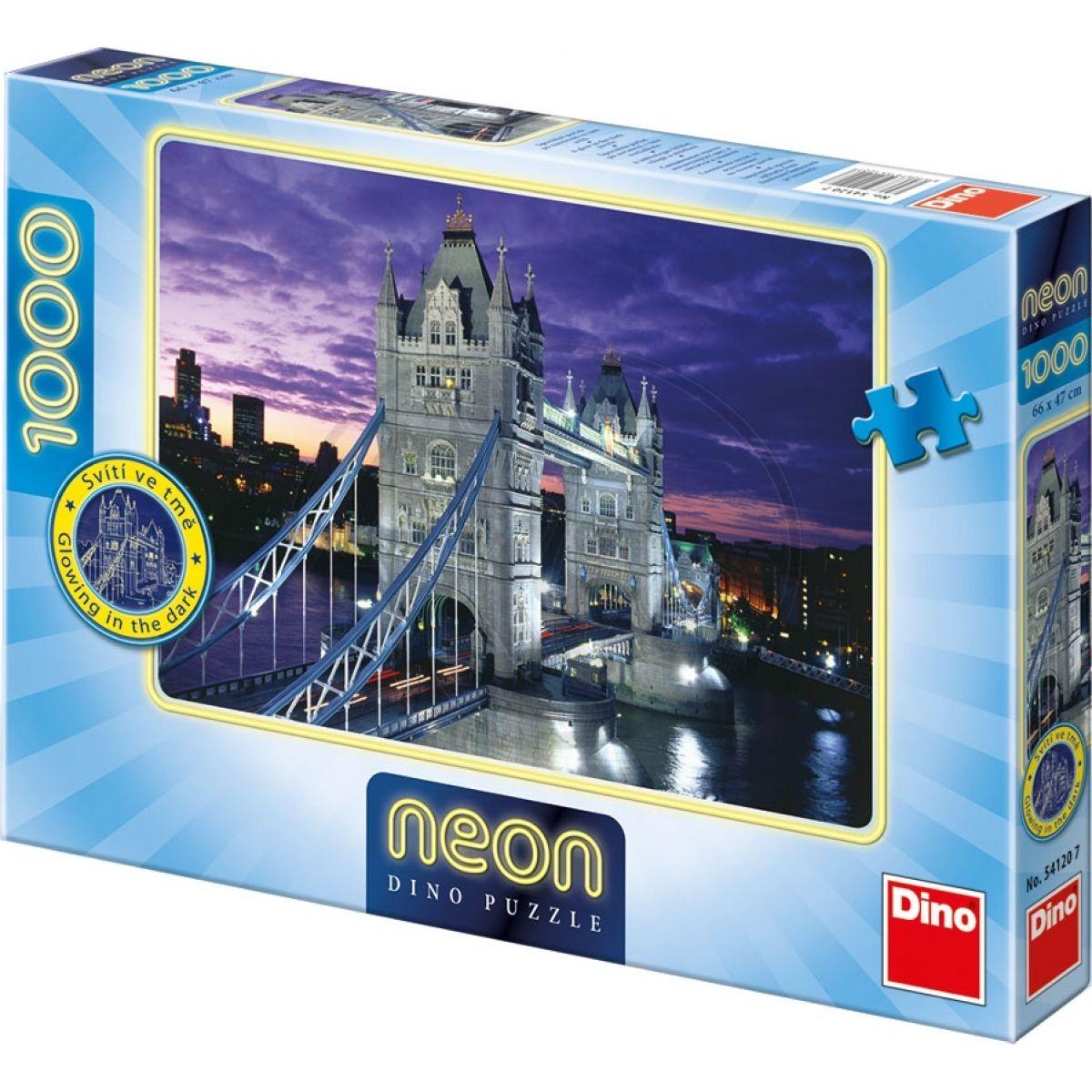 Dino Puzzle Neon Tower Bridge 1000 dílků