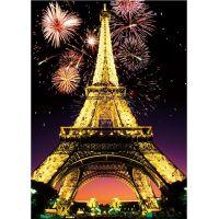 Dino Puzzle Noční Eiffelovka neon 1000 dílků 2