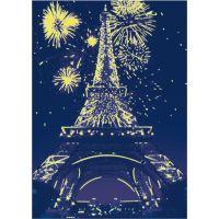 Dino Puzzle Noční Eiffelovka neon 1000 dílků 3