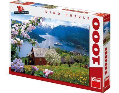 Dino Puzzle Norský fjord 1000 dílků