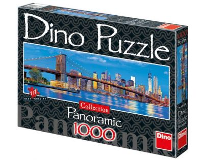 Dino Puzzle Panoramic Brooklynský most 1000 dílků