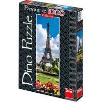 Dino Puzzle Panoramic Eiffelova věž na jaře 1000 dílků