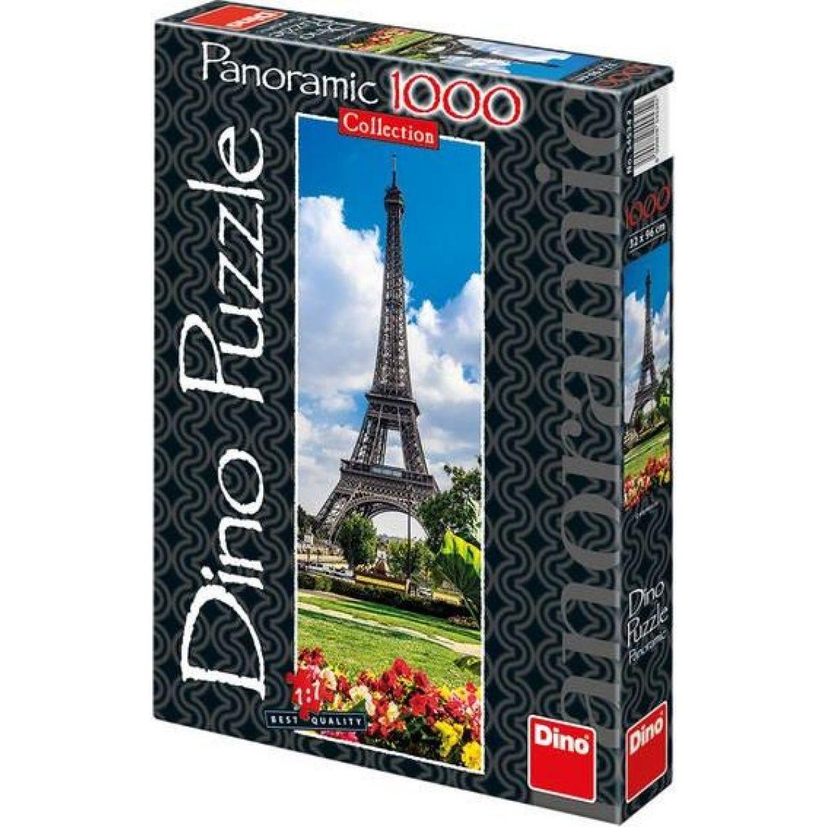 Dino Puzzle Panoramic Eiffelova věž na jaře 1000 dílků Dino