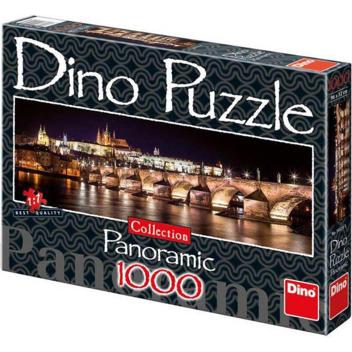 Dino Puzzle Collection Panoramic Hradčany v noci 1000 dílků